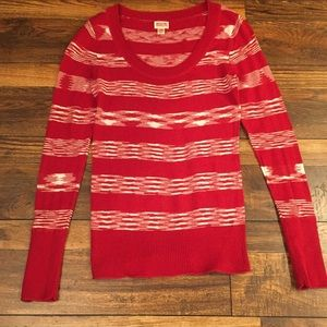 Red and White Striped Mossimo Sweater